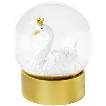 Gold Princess Swan Snow Globe